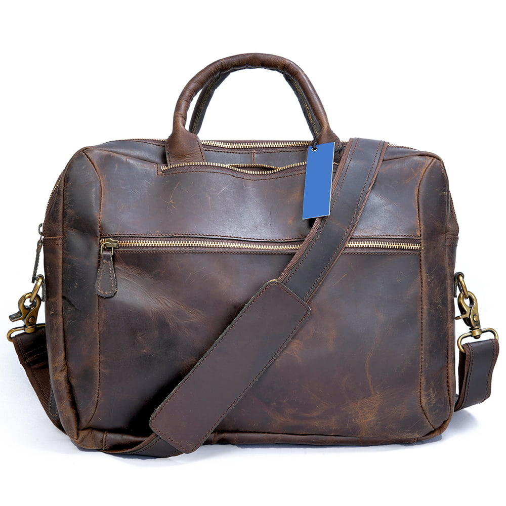 Leather Convertible Backpack Briefcase Hybrid - Buffalo Leather