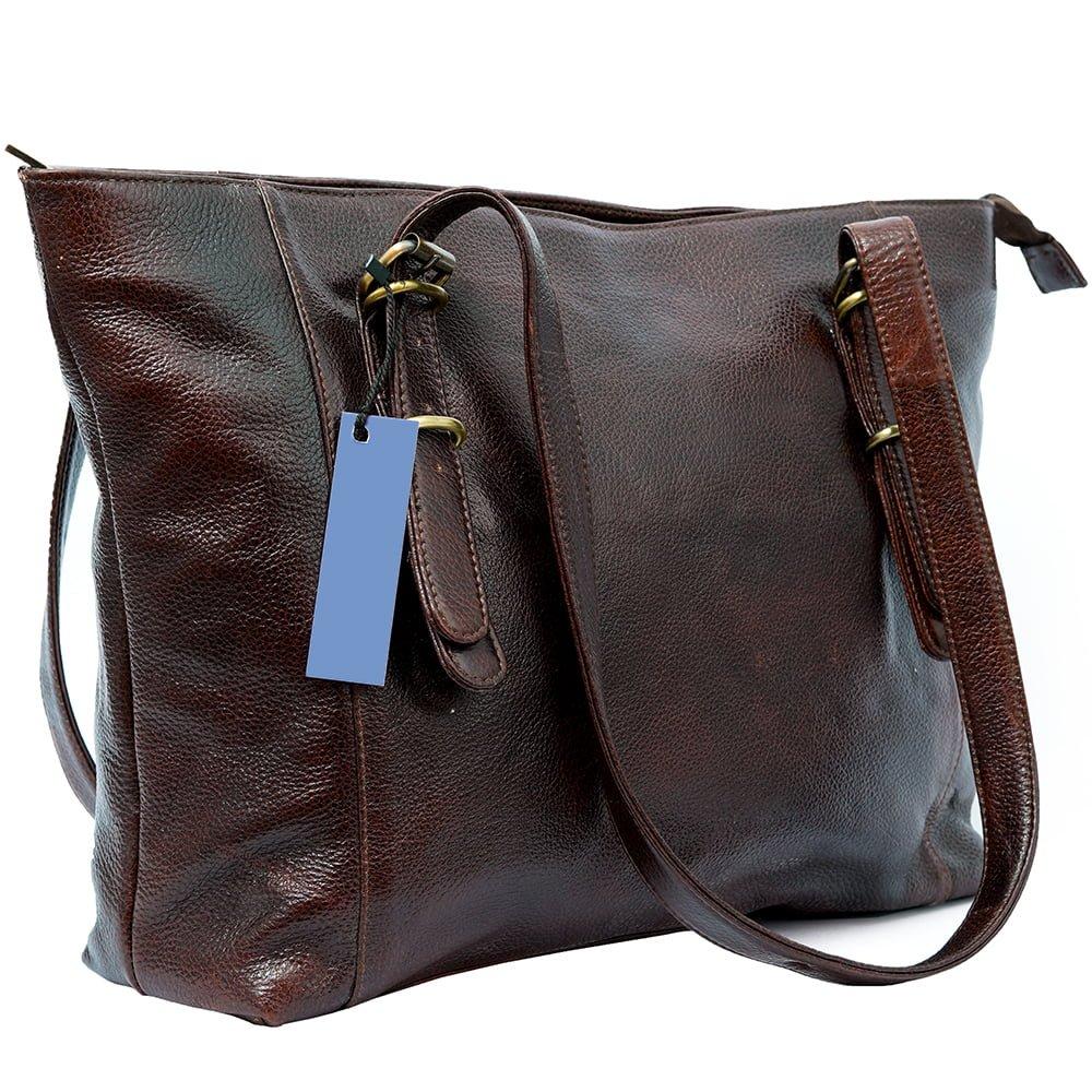 Women Brown Leather Handbag - Buffalo Leather