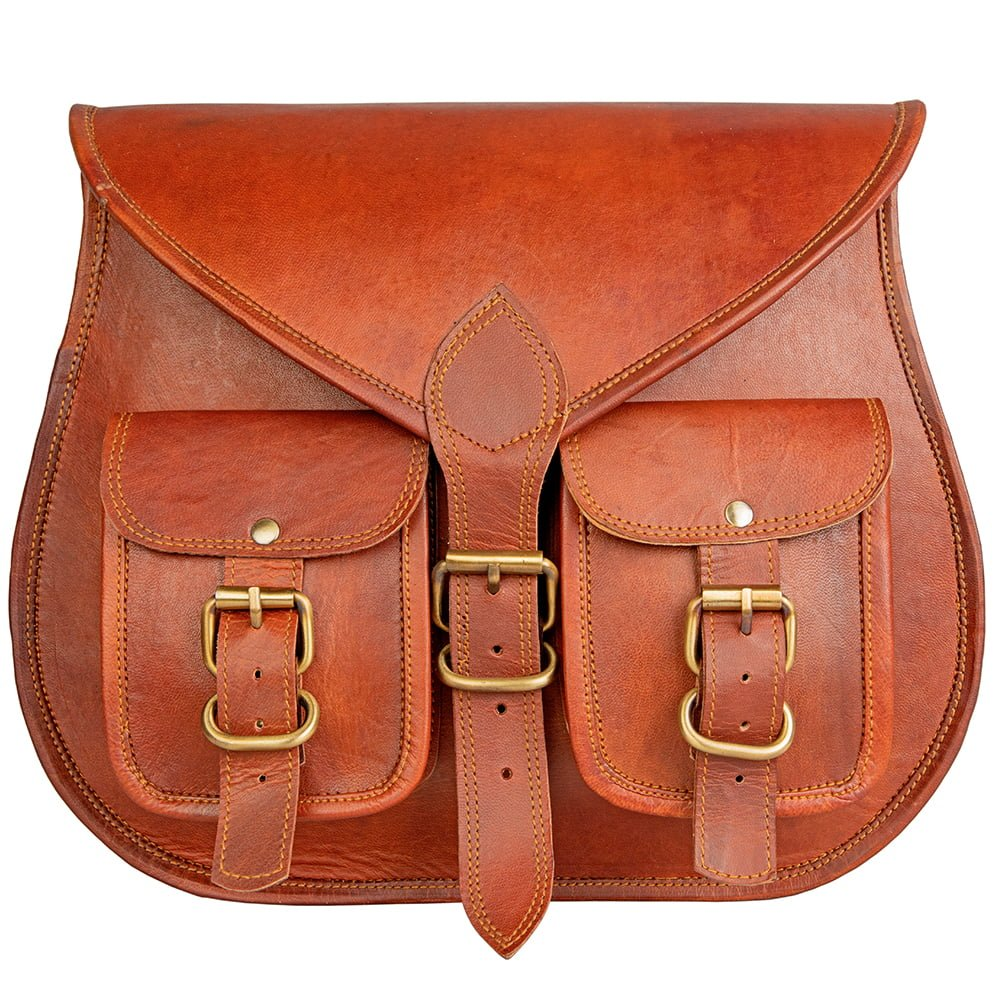 Women Leather Gypsy Purse Two Pockets
