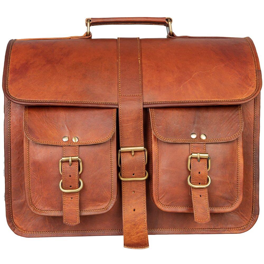Leather Travel Crossbody Office Bag